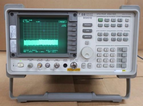 HP Agilent 8561E 30Hz-2.9GHz Spectrum Analyzer + 85620A Mass Memory Module